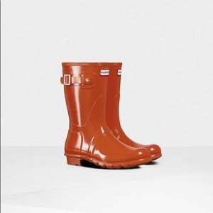 NEW Hunter Original Short Gloss Siren Rain Boots 9